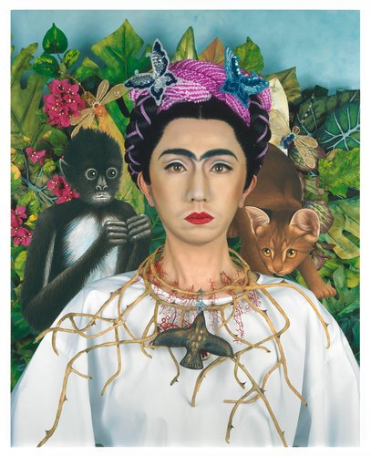 An Inner Dialogue with Frida Kahlo (Collar of Thorns) by Yasumasa Morimura